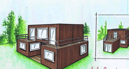 container home green roof 7